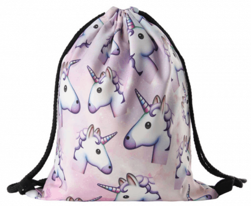 Emoji Unicorn gymtas, trekkoord tas eenhoorn