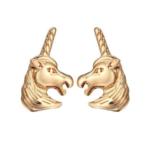 Eenhoorn oorstekers goud kleur