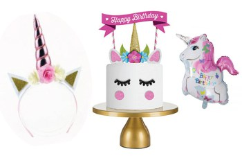 Unicorn feest party spullen, unicorn taartdecoratie