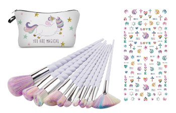 Unicorn make up spullen en unicorn nagelstickers