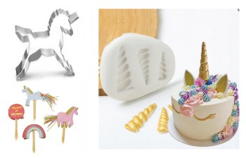 Eenhoorn bakvormen en unicorn taartdecoratie