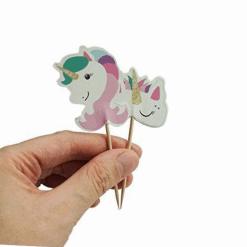 Eenhoorn cocktailprikkers voor een unicorn feestje