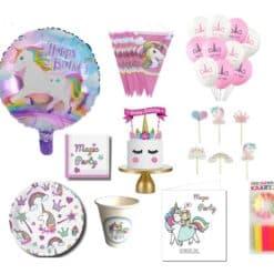 Eenhoorn feestpakket voor kinderverjaardag