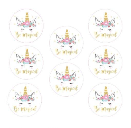 Unicorn Stickers Be Magical 8x