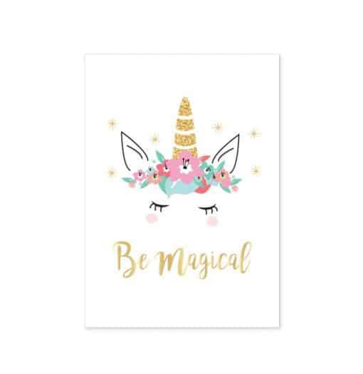 Eenhoorn poster Be Magical