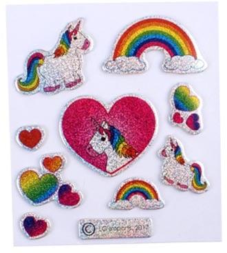 Eenhoorn glitter stickers