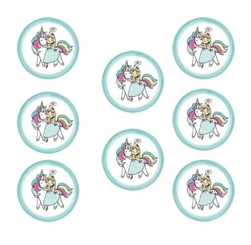 Eenhoorn Stickers prinses met kroon