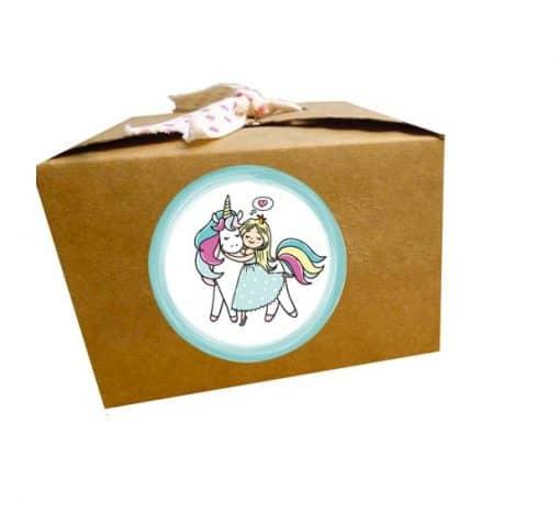 Eenhoorn stickers doosje prinses