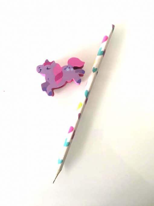 Eenhoorn potlood met afneembaar gum