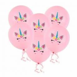Eenhoorn ballon roze 6x