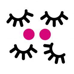 Eenhoorn ogen stickers en blosje om traktatie te maken