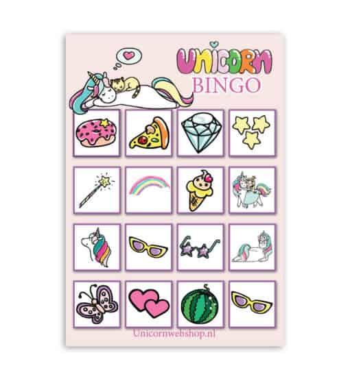 Eenhoorn bingo voor kinderen