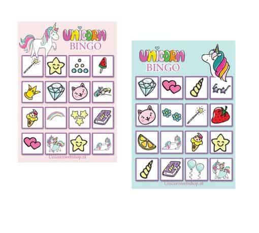 Eenhoorn bingo spel