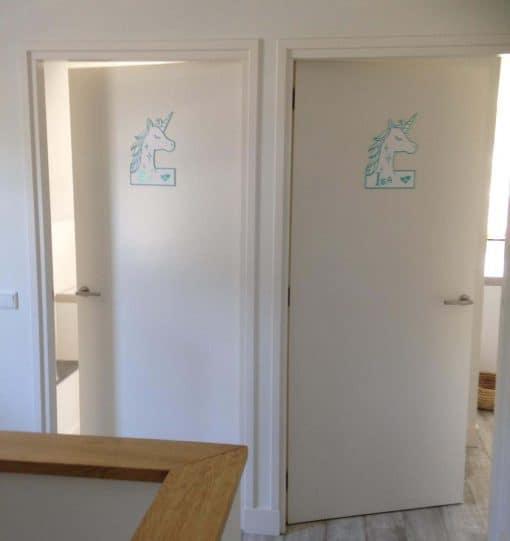 Eenhoorn deurbord kinderkamer