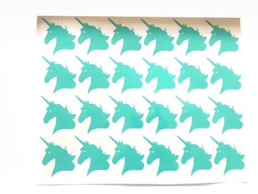 Eenhoorn stickers voor op traktaties 24x