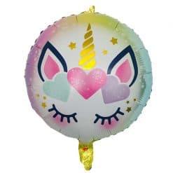 Eenhoorn folie ballon met harten
