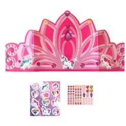 Kroontje voor prinses met eenhoorn stickers