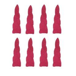 Eenhoorn hoorn stickers glitter roze vinyl