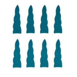 Eenhoorn hoorn stickers turquoise