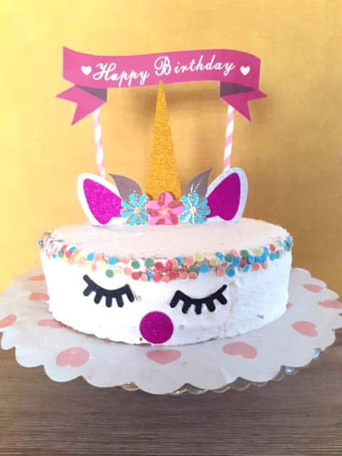 Eenhoorn taart voor kinderverjaardag