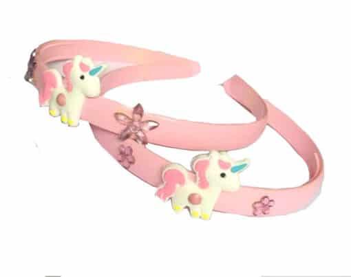 Eenhoorn diadeem licht roze voor kind