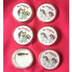 Eenhoorn buttons Be Magical 6x